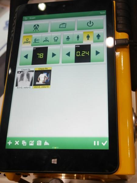 タブレットに対応 OSはWindows 8のタブレットで細かい設定もできる。